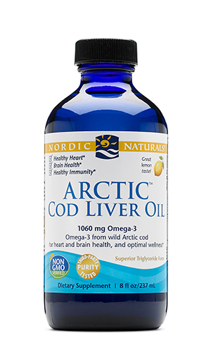 Omega oil, Arctic Cod Liver Oil (Lemon) 8 oz
